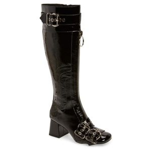 New JEFFREY CAMPBELL Peggy Patent Boots